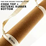 "Natural Cork and Natural Rubber Yoga Mat, 72"" x 24"" x 5mm Thick. Non-slip, Eco-friendly Yoga Mats!"
