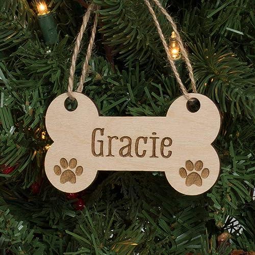 Gift tag and Keepsake Custom Engraved Christmas Tree Ornament