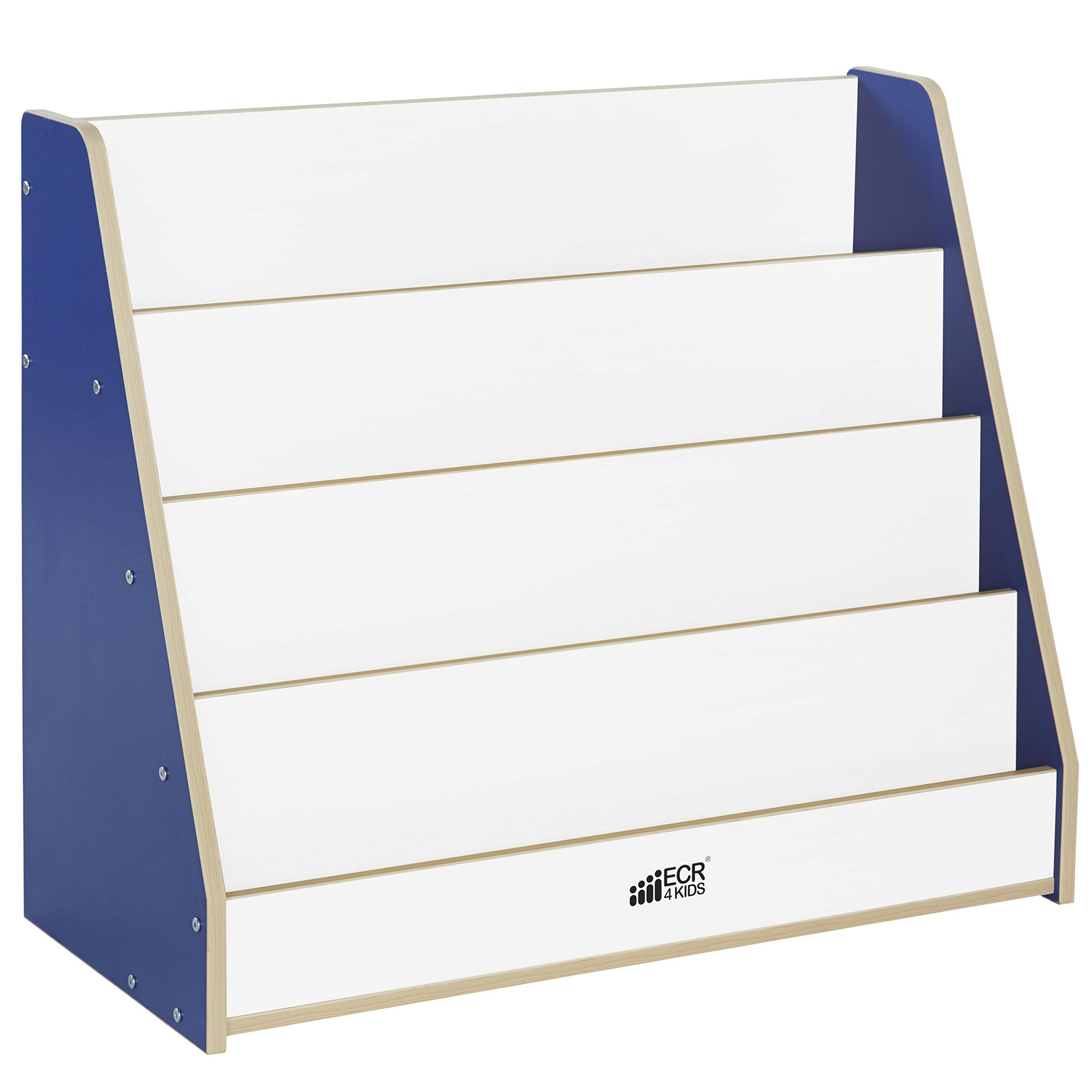 Colorful Essentials Big Book Display Stand - White/Blue by Factory Direct Partners