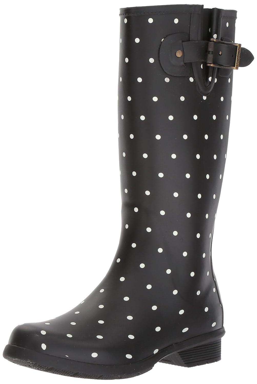 Chooka Women's Tall Memory Foam Rain Boot B01MSY3LJL 10 B(M) US|Dot Blanc Black