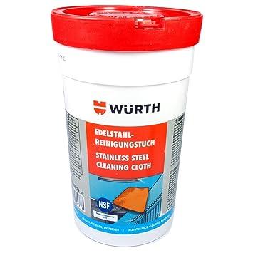 Würth 089312130 - Paños de limpieza para acero inoxidable ...