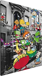 Zomsun Hey Arnold Original Decorations Art for Bedroom Living Room Home Decor Art Hd Print Oil Painting On Canvas.(16x20inch,Framed)