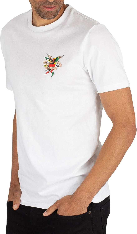 Blanc Ed Hardy Homme Jusqu/'à la mort t-shirt