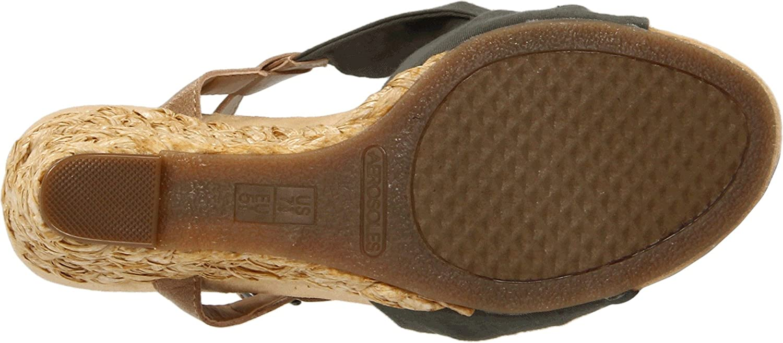 Aerosoles Women's Plush Pillow Wedge Sandal B007CQ3AMU 10.5 B(M) US|Green Fabric