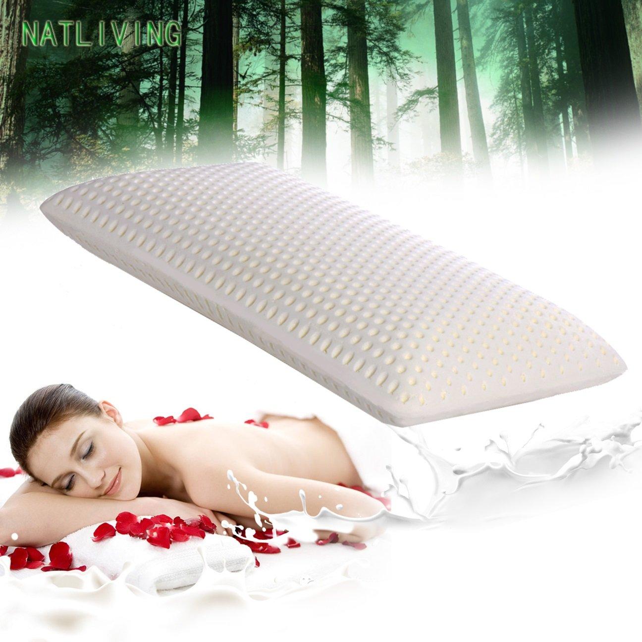 Thai Latex Foam Pillow Cervical Orthopedic 100% Natural Ventilated Pressure Release Cosmetic Thailand Latex Pillows