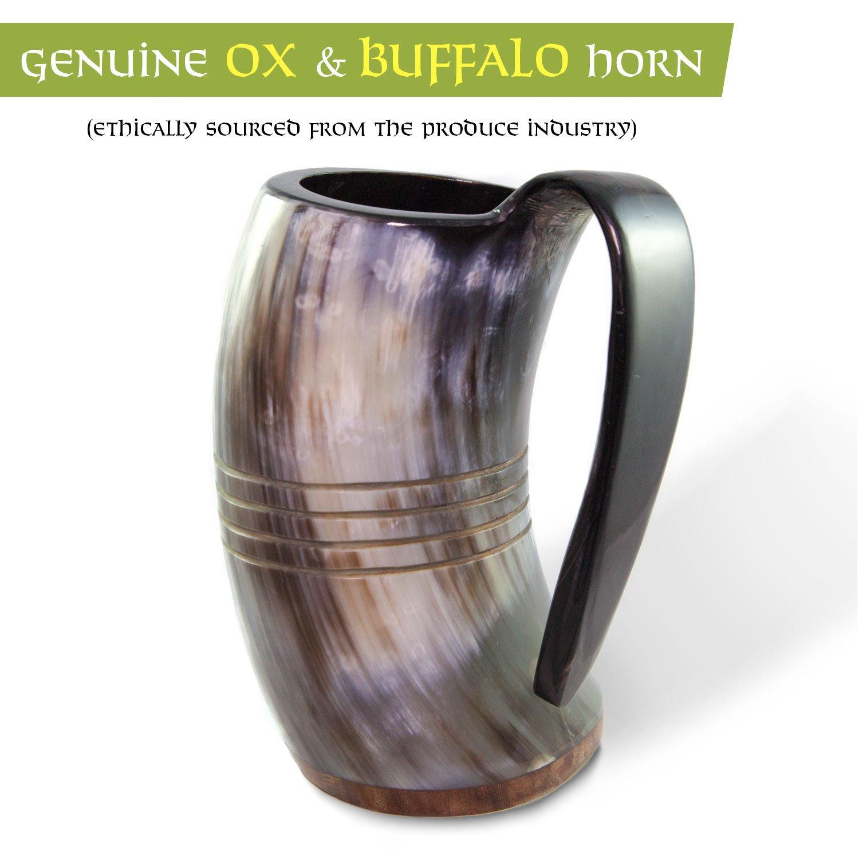 Norse Tradesman Genuine Viking Drinking Horn Tankard (4, The Eternal) by Norse Tradesman (Image #3)