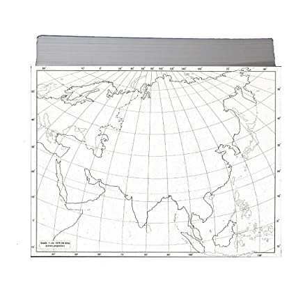 CRAFTWAFT BLANK PHYSICAL MAP OF ASIA FOR MAP POINTING PACK