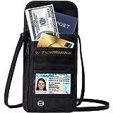DEW Travel Passport Wallet Stash Hidden Water Resistant Pouch RFID Blocking Wallet for Security Concealed Pocket Pouch Neck Passport Holder