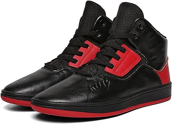 Soulsfeng Men High Tops Shoes Black