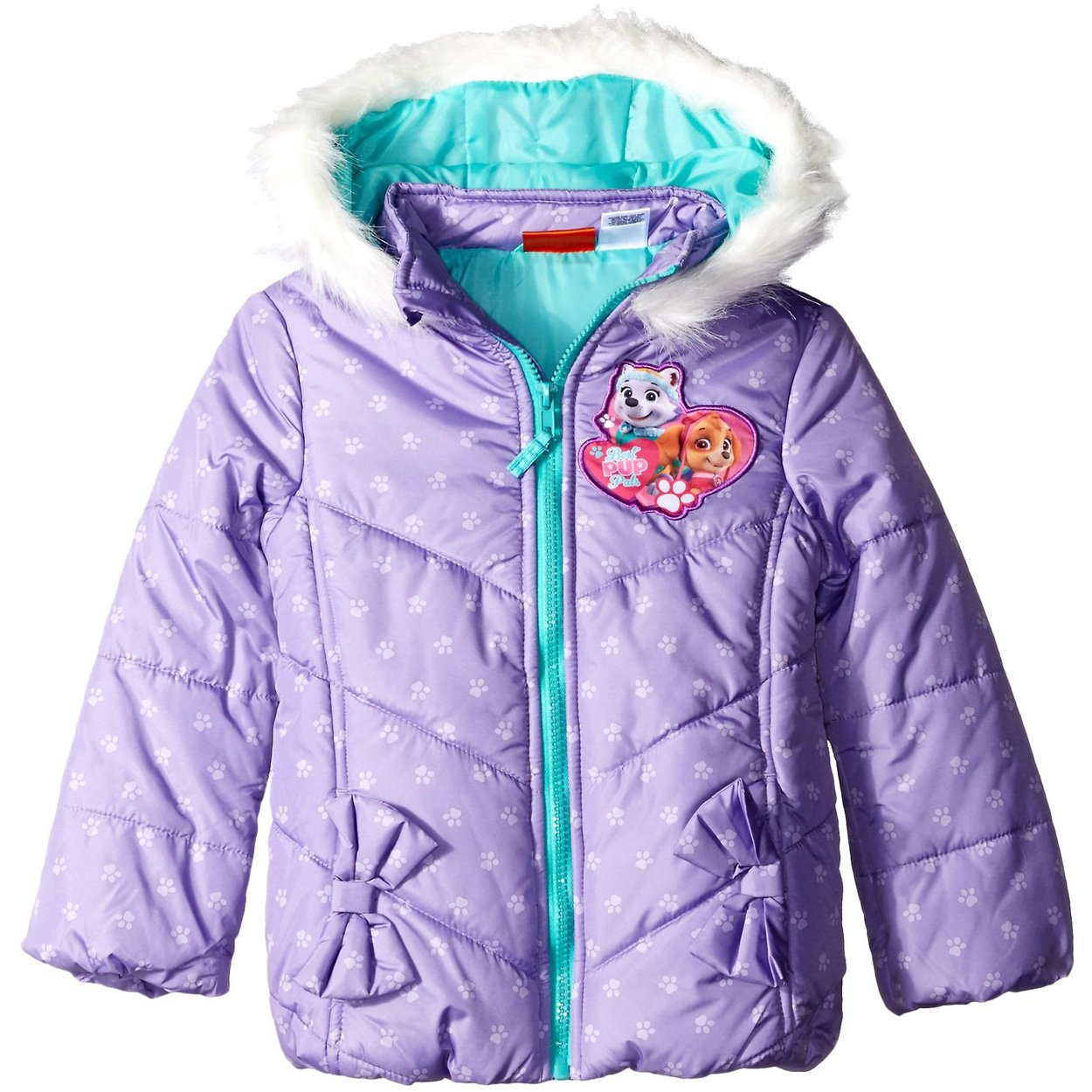 Nickelodeon Unisex Paw Patrol Puffer Coat Nickelodeon Paw Patrol Puffer Toddler Girls 2T Pup Pals Purple