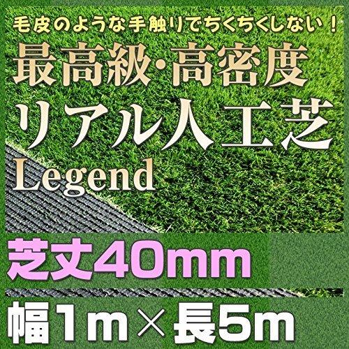 最高級 リアル 人工芝 「レジェンド」 芝丈40mm《1m×5m》 【防炎認証済】 B01G4XT610 14900