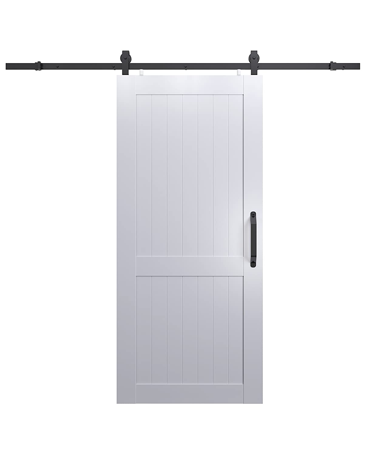 LTL Home Products MLB3684HKD Millbrooke Ready to Assemble PVC Barn Door Kit, 36 x 84 Inches, White