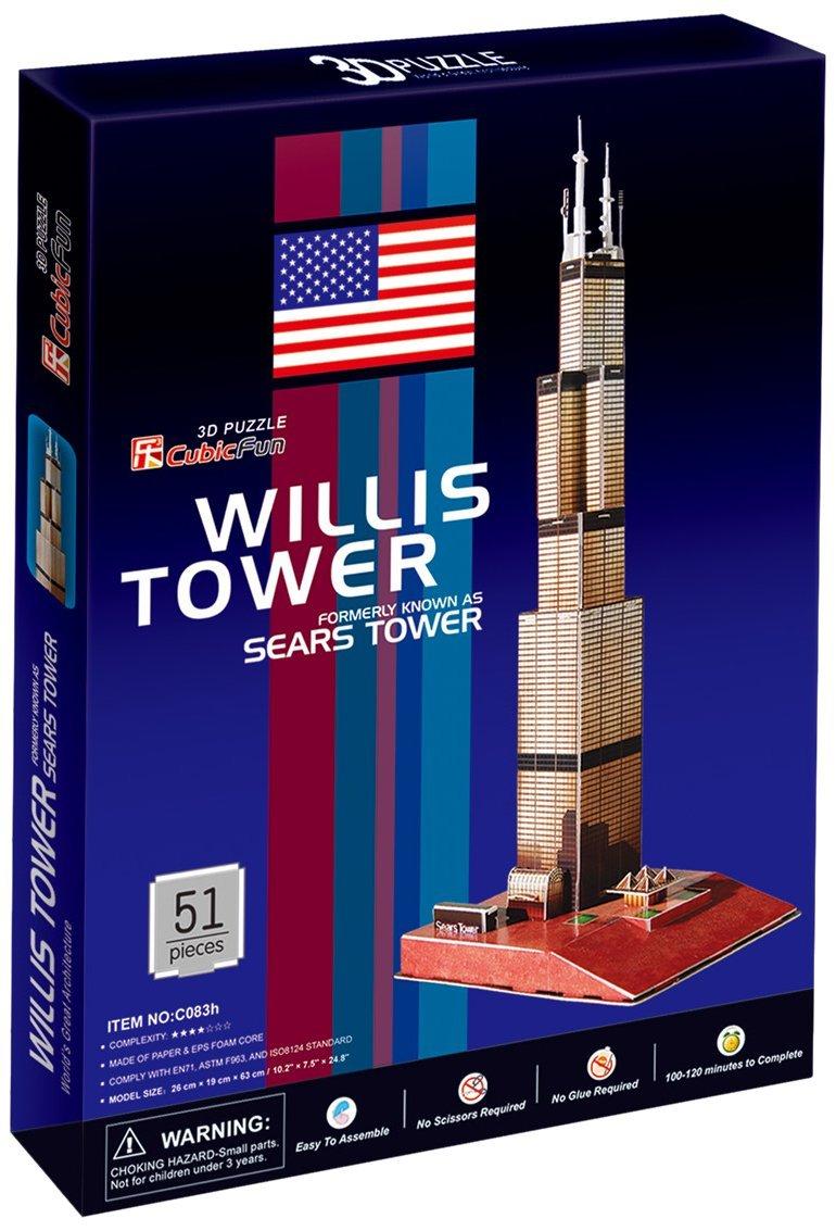 【メーカー直売】 CubicFun by Sears Puzzle Tower Chicago USA 3D Puzzle by 3D CubicFun B001UCULU6, サントリーおためしクラブ:c29fd393 --- quiltersinfo.yarnslave.com