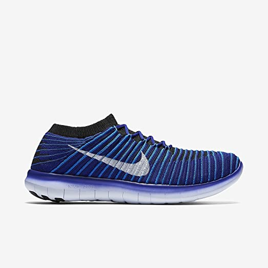Nike Women's Free RN Motion Flyknit Running Shoes Blue White 834585 400  Size 9