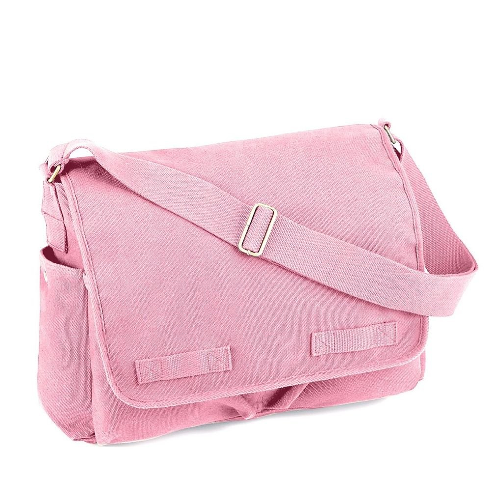 Classic Messenger Bag Military Black Army Green Khaki Camo Brown Pink Blue
