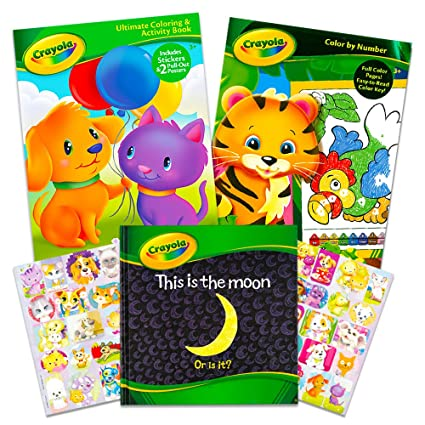 Crayola Coloring and Activity Books Set with Story Book (2 Jumbo Coloring  Book, 1 Hard Cover Storybook)
