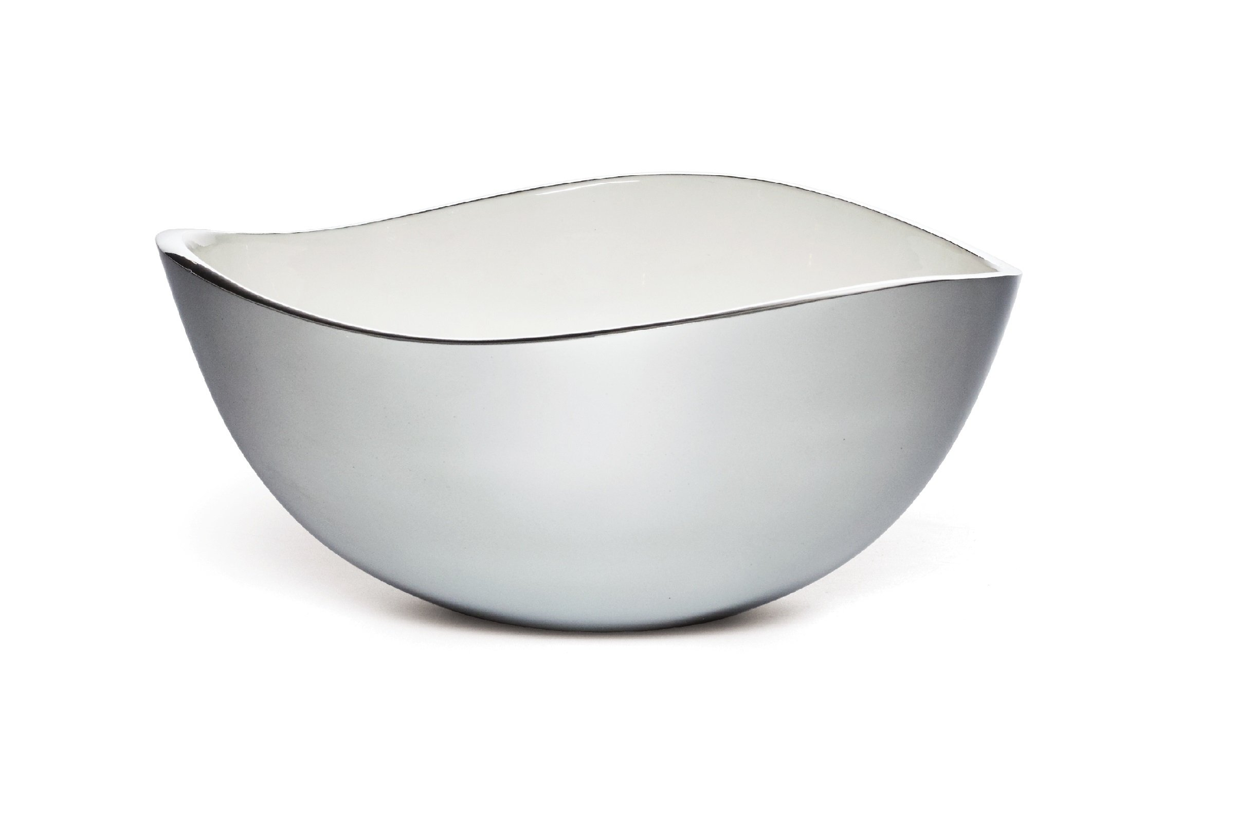 Savora Dimple Aluminum and Enamel Bowl, 10-Inch, Snow