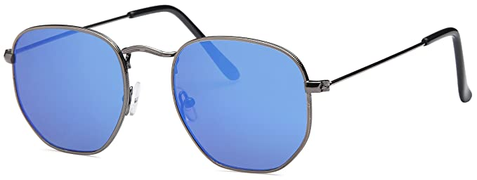 Amazon.com: West Coast – Gafas de sol unisex metal | plana ...