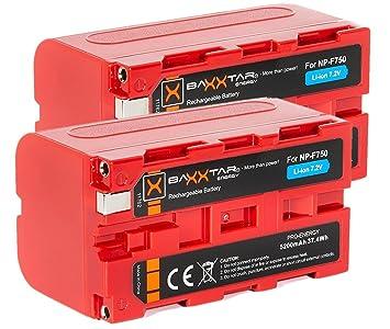 Baxxtar Pro - 2X Batería para Sony NP-F750 (5200mAh) - LG Cells Inside