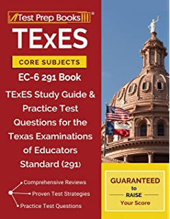 TExES Core Subjects EC 6 291 Book Study Guide Practice Test Questions
