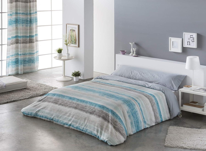 pero se pueden comprar apartes No incluye cojines decorativos 180cm de ancho x 270cm de alto Funda nordica dos Piezas PALMA AZUL para cama de 90cm Incluye Funda nordica y funda para almohada.