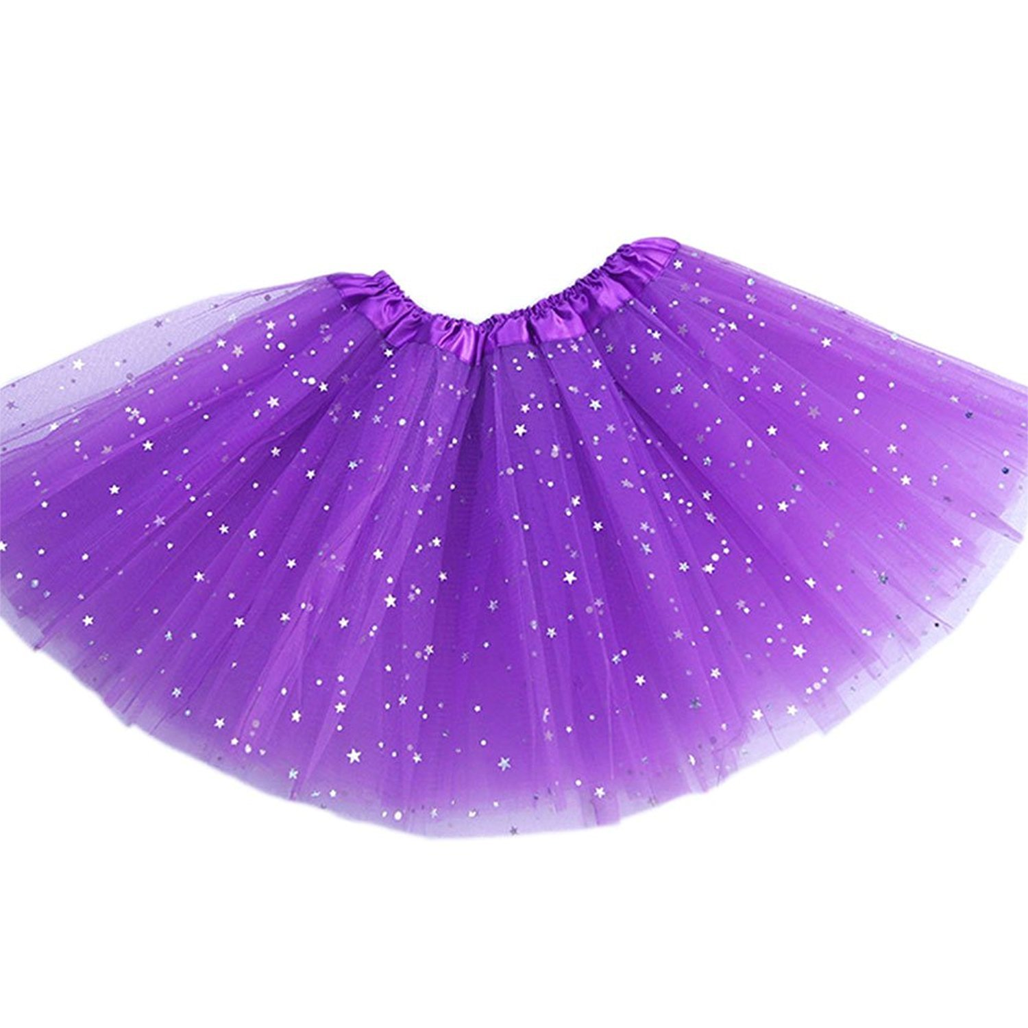 799961a0e8 AMORETU Womens Sparkly Star Sequin Organza Tutu Skirt 3 Layers Halloween  Party Green: Amazon.co.uk: Clothing