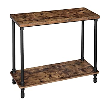 Marvelous Vasagle Industrial Console Table Sofa Table With Iron Pipe Legs And 1 2 Inch Thick Table Top Easy Assembly Accent Table For Hallway Entryway Squirreltailoven Fun Painted Chair Ideas Images Squirreltailovenorg