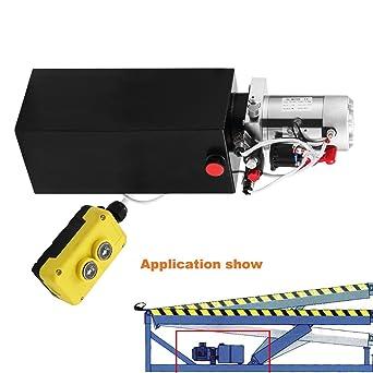 Autovictoria Bomba Hidraulica De Doble Efecto Bomba Hidraulica 12V Dump Trailer 10L Reservoir Controlado Remotamente (