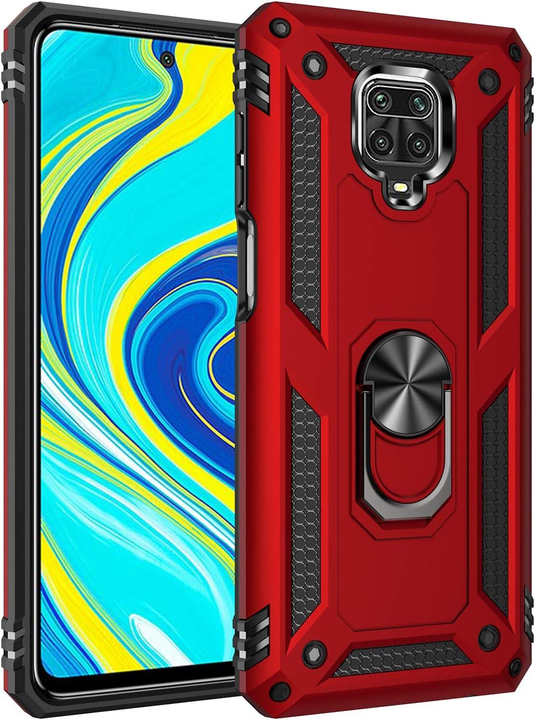Navy blau Ringhalterung Magnetic Car Mount Series Milit/ärischer Anti-Drop H/ülle TPU//PC 2 in 1 Ultra D/ünn Schutzh/ülle TANYO H/ülle Geeignet f/ür Xiaomi Redmi Note 9S