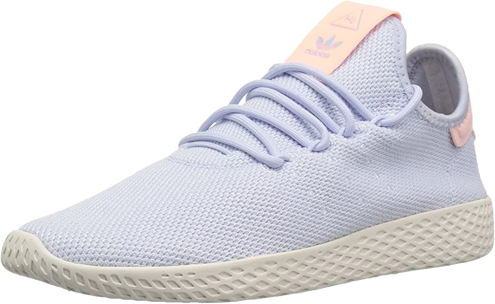 adidas Originals Women s Pharrell Williams Tennis HU Running Shoe aero  Blue Chalk White 934098ac6