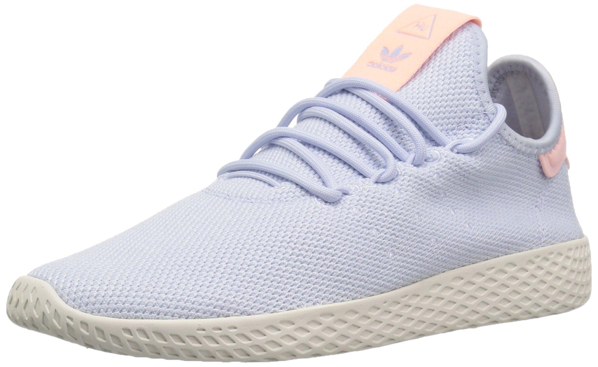 adidas Originals Women's PW HU Tennis Shoe, Aero Blue/Aero Blue/Chalk White, 8 M US