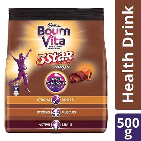 Cadbury Bournvita 5 Star Magic Health Drink 500 gm refill pack