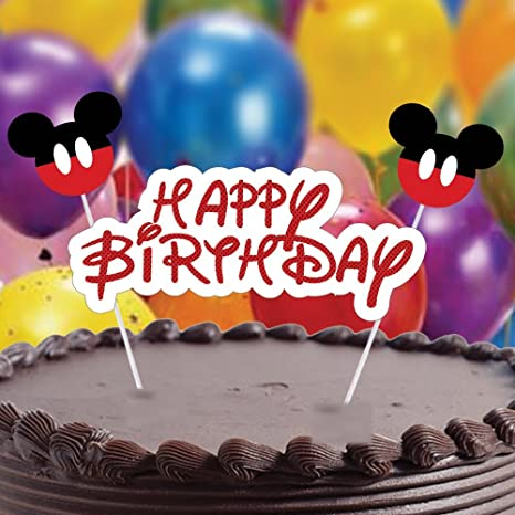Party Propz Mickey Mouse Theme Cake Topper For Birthday Decoration Amazonin Toys Games