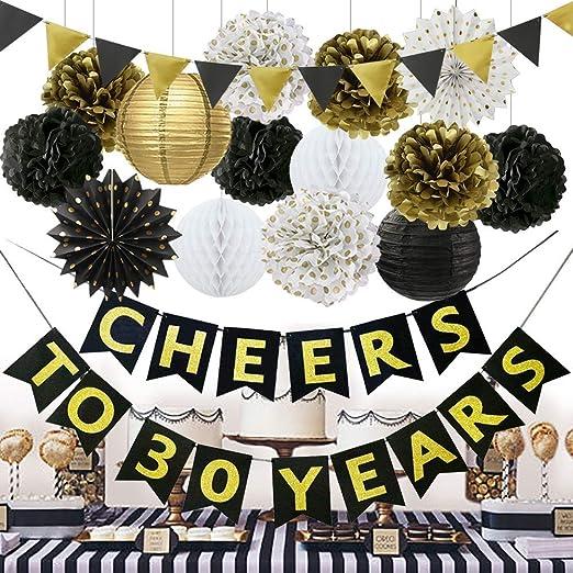30 Aniversario de bodas Decoraciones Set 30 Cumpleaños ...