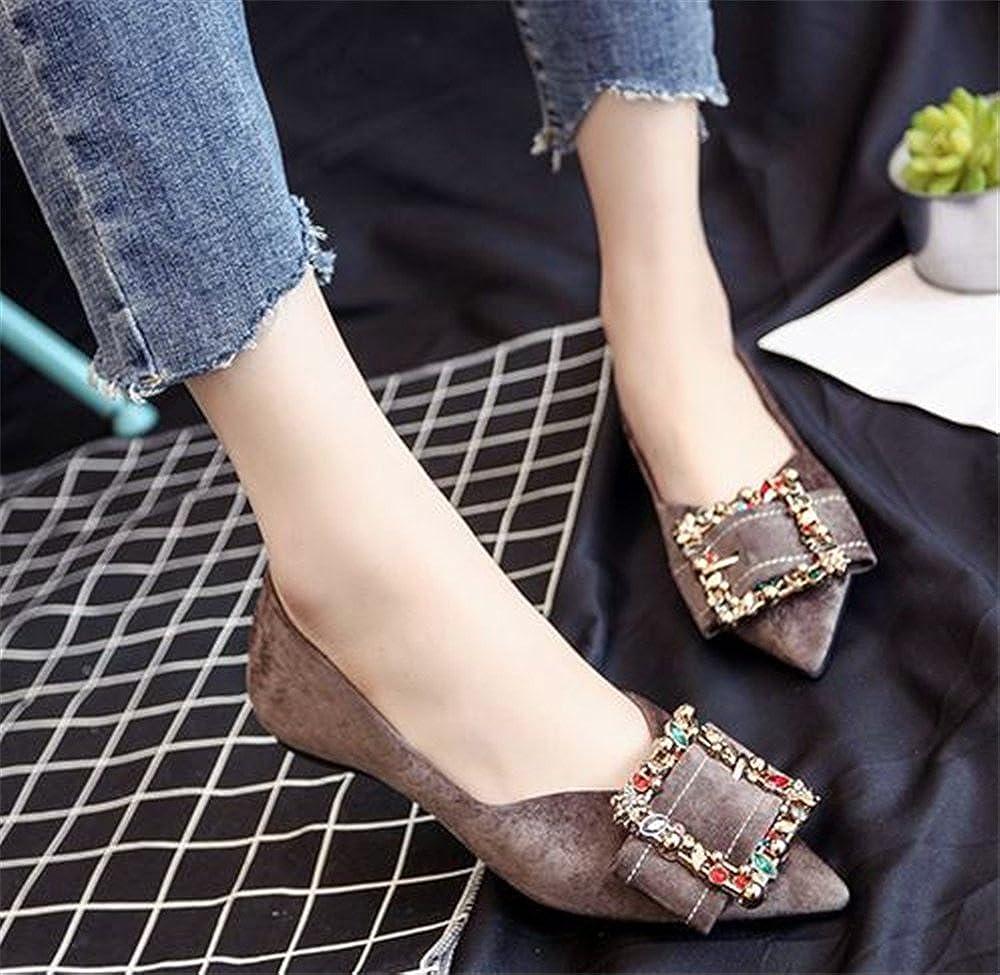 BeautyOriginal Womens Round Buckle Ballet Flat Fashion Shoes