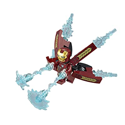 LEGO Avengers Infinity War Minifigure - Iron Man (with Jetpack and Power Burst Elements) 76107: Toys & Games