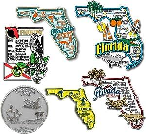 Six-Piece State Magnet Set - Florida