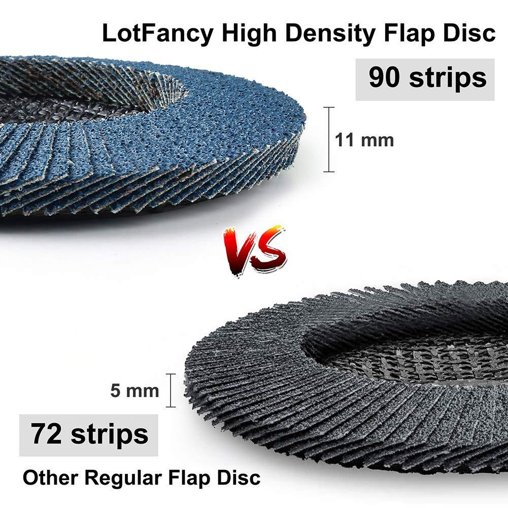 Abrasivo de /óxido de Aluminio LotFancy Disco Abrasivo 115mm 10 Piezas Disco de L/áminas Grano 40 compartimentos