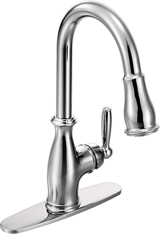 Moen 7185C Brantford One-Handle Pulldown Kitchen Faucet