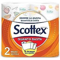 Scottex Quanto Basta, Carta Cucina Opzione Mezzo Strappo, 2 Maxi Rotoli