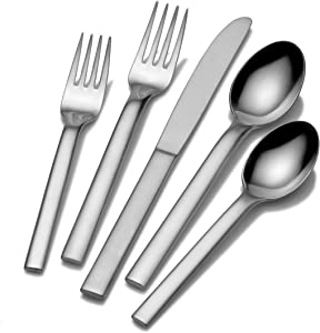 Mikasa Ovoid 45-Piece Flatware Set, Silver