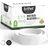 Bed Bug Interceptors – 4 Pack | Bed Bug Blocker (Pro) Interceptor Traps (White) | Insect Trap, Monitor, and Detector for Bed
