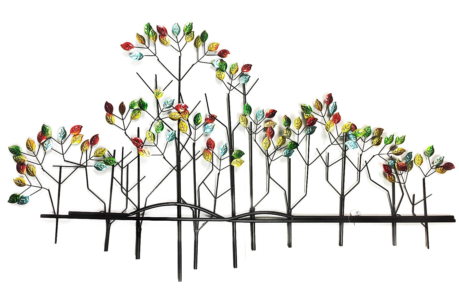 "Fullsexy 1 Wall Art Tree, 39"" w,24"" h, Multicolor - Tree of life metal wall art 39""w inch x 24 inch Easy on wall tree made from high quality light weight thin metal Artistic shape adds modern and elegant flair to any decor abstract art - living-room-decor, living-room, home-decor - 71BmPKoNMsL -"