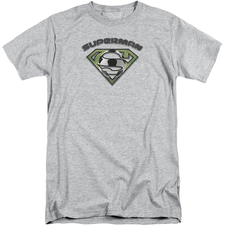 Superman Men's Soccer Shield Tall T-Shirt