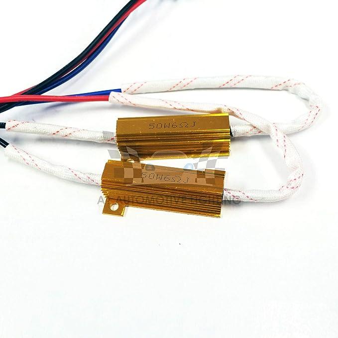 Adaptateur Relais Harnais Anti Flicker Erreur Decoder Avertissement Canceller O-NEX LED Kit r/ésistance H11 H8, H9