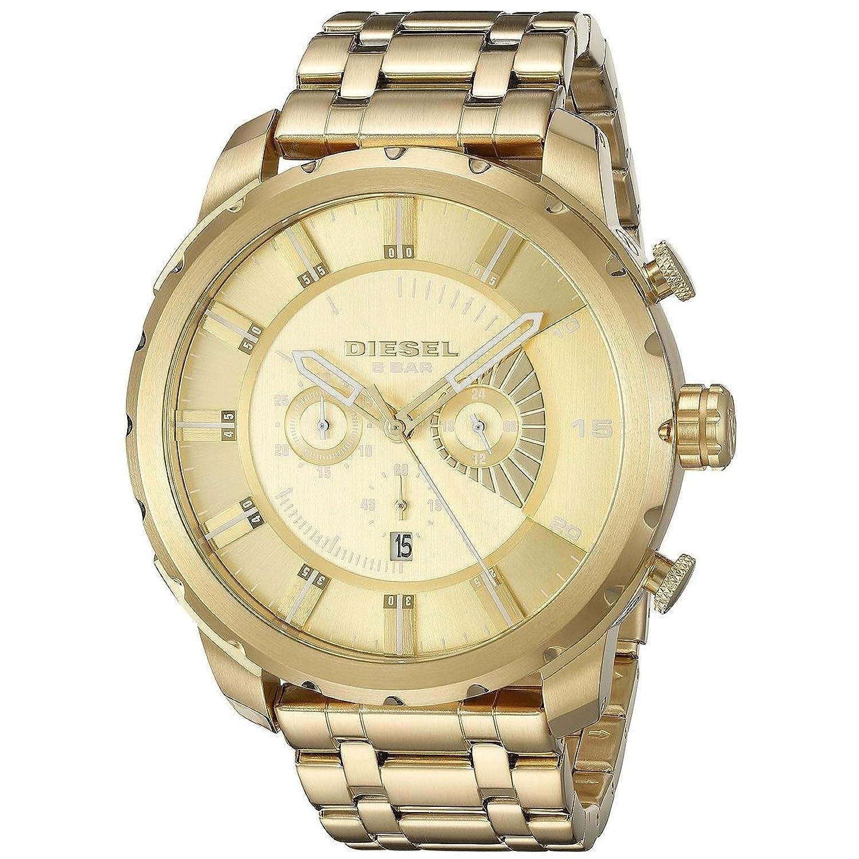 MARKEN Herren-Armbanduhr Armband Goldfarben Edelstahl Quarz Chronograph 4376
