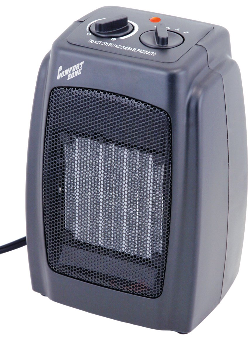 Comfort Zone Heater | Ceramic Electric Portable Fan-Forced