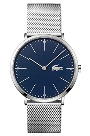 Lacoste Mens Moon 2010900 Silver Stainless-Steel Quartz Fashion Watch