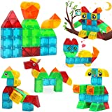 LUKAT Magnetic Blocks for Kids, 3D-Cuboid Magnetic Tiles Building Blocks for Kids to Learn Shapes, Colors, Animals…