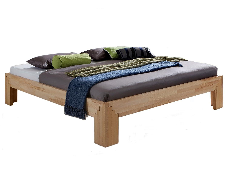 Unbekannt Massivholz-Bett Selina 180 x 200 cm aus Kernbuche ...